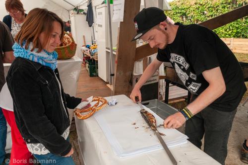 Steckerlfisch auf dem Brauereifest der Schlossbrauerei Haimhausen 2019