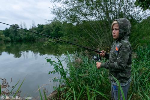 Nachtfischen der Jugendgruppe am Heiglweiher