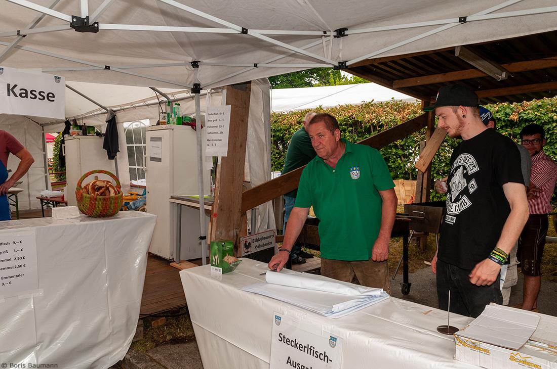 Fischerfreunde Haimhausen e.V. auf dem Brauereifest der Schlossbrauerei Haimhausen 2019