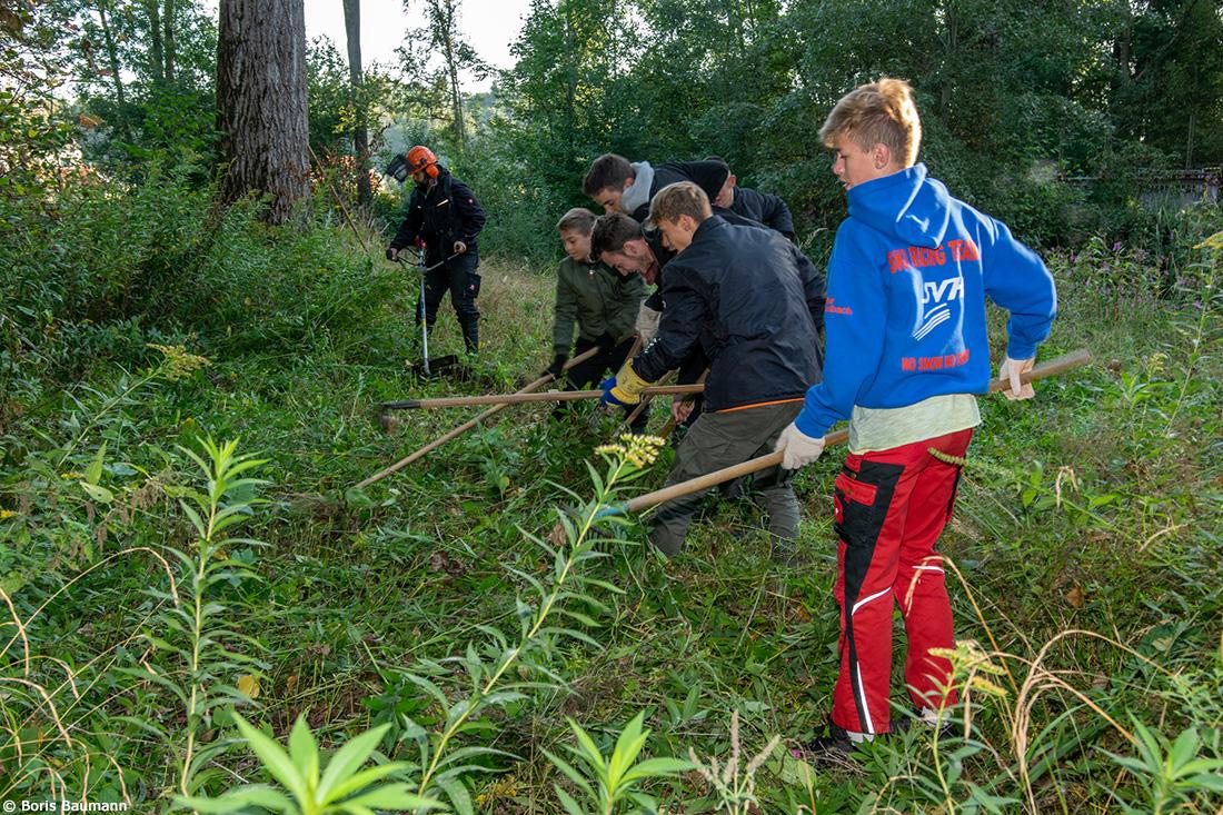 Fischerfreunde Haimhausen e.V.- Gewässerpflege mit Jugendgruppe, 2019