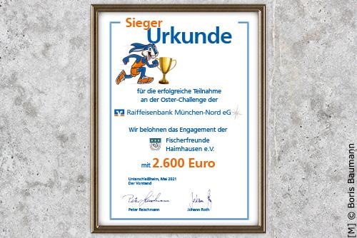 Osterchallenge 2021, Raiffeisenbank Muenchen Nord e.G., Fischerfreunde Haimhausen e.V.
